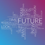 Futuristic words cloud about time, future, life Royalty Free Stock Photos