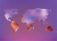Futuristic world map illustration Stock Image