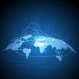 Futuristic world map traffic design Stock Photos