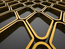 Futuristic yellow elements Royalty Free Stock Image