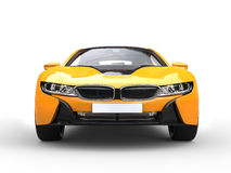Futuristic yellow sports car Stock Photography