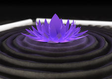Futuristic zen garden Stock Photo