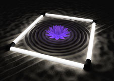 Futuristic zen garden Stock Photography