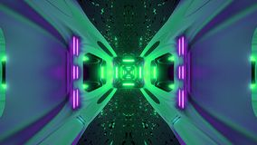 Futuristice scifi tapety 3d obcy tunelowy rendering royalty ilustracja