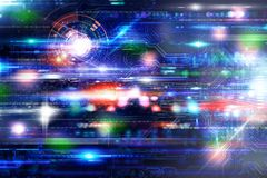 Futuristich technology background Stock Images