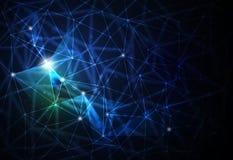Futuristico astratto - fondo di tecnologia delle molecole illustrazione vettoriale