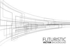 Futuristico bianco Fotografie Stock