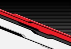 Futuristico cyber bianco rosso astratto con il vettore moderno del fondo di tecnologia dell'otturatore di progettazione grigio sc Fotografie Stock Libere da Diritti