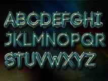 Futuristisch alfabet Stock Illustratie