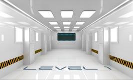 Futuristisch binnenland Stock Foto's