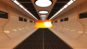 Futuristisch binnenland en zon Royalty-vrije Stock Afbeeldingen