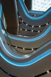 Futuristisch binnenlands vernieuwd winkelcentrum stock afbeeldingen