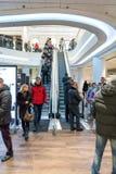 Futuristisch binnenlands vernieuwd winkelcentrum Stock Foto