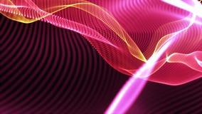 Futuristisch blauw neuraal netwerk Abstract science fictionconcept stock illustratie