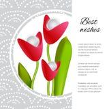 Futuristisch boeket van de tulpen royalty-vrije illustratie
