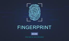 Futuristisch de Codage Digitaal Concept van de vingerafdruktechnologie stock afbeeldingen