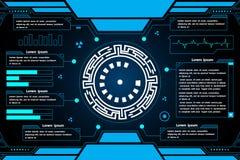 Futuristisch de computer abstract vector van de interface hud technologie ontwerp als achtergrond Stock Fotografie