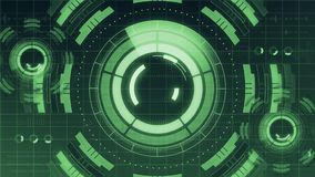 Futuristisch digitaal HUD Technology-gebruikersinterface, het Radarscherm met diverse van bedrijfs technologieelementen mededelin stock illustratie