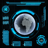Futuristisch gebruikersinterface HUD Stock Afbeeldingen