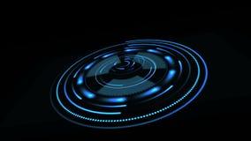 Futuristisch gebruikersinterface HUD HUD voor bedrijfstoepassingen en voor moderne spelen spinner vector illustratie