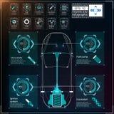 Futuristisch gebruikersinterface HUD UI Abstract virtueel grafisch aanrakingsgebruikersinterface Infographic auto's Vectorwetensc stock illustratie