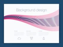 Futuristisch gebruikersinterface UI technologie achtergrondvector Royalty-vrije Stock Afbeeldingen