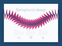 Futuristisch gebruikersinterface UI technologie achtergrondvector Stock Afbeelding