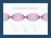 Futuristisch gebruikersinterface UI technologie achtergrondvector Royalty-vrije Stock Fotografie