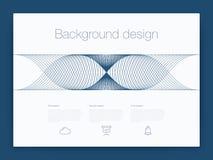 Futuristisch gebruikersinterface UI technologie achtergrondvector Royalty-vrije Stock Foto
