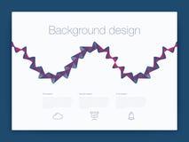Futuristisch gebruikersinterface UI technologie achtergrondvector Stock Fotografie