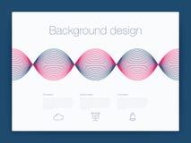 Futuristisch gebruikersinterface UI technologie achtergrondvector Stock Afbeeldingen