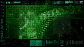 Futuristisch GebruikersinterfaceHoofd op de Achtergrond van het Vertoningsscherm Royalty-vrije Stock Foto