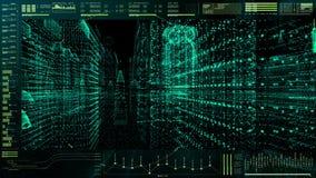 Futuristisch GebruikersinterfaceHoofd op de Achtergrond van het Vertoningsscherm Royalty-vrije Stock Foto's