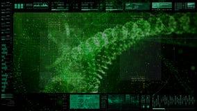 Futuristisch GebruikersinterfaceHoofd op de Achtergrond van het Vertoningsscherm Royalty-vrije Stock Afbeeldingen
