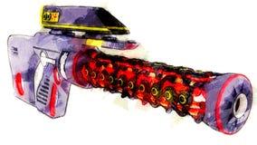 Futuristisch geweer met telescopisch gezicht royalty-vrije illustratie