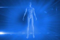 Futuristisch glanzend 3D lichaam Royalty-vrije Stock Foto