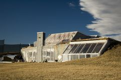 Futuristisch huis Royalty-vrije Stock Fotografie