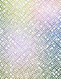 Futuristisch Labyrint Stock Afbeeldingen