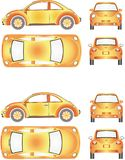 Futuristisch Mini Car Stock Afbeeldingen