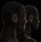 Futuristisch paarsilhouet Royalty-vrije Stock Afbeelding