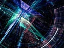 Futuristisch portaal - abstract digitaal geproduceerd beeld Royalty-vrije Stock Afbeelding