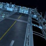 Futuristisch ruimtestation stock illustratie