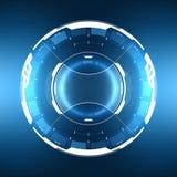 Futuristisch sc.i-FI Cirkelhud element royalty-vrije illustratie