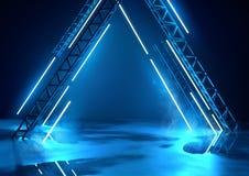 Futuristisch Stadium en Blauwe Verlichting stock illustratie