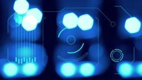 Futuristisch virtueel het schermpaneel stock illustratie