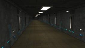 Futuristisch zaal vreemd ruimteschip Stock Fotografie