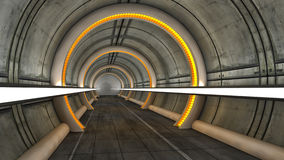 Futuristisch zaal vreemd ruimteschip Royalty-vrije Stock Foto
