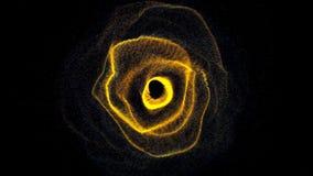 Futuristisch zwart gat Abstracte ruimteachtergrond 3d teruggevende achtergrond vector illustratie
