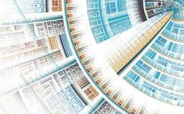 Futuristische abstracte achtergrond Stock Afbeelding