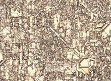 Futuristische abstracte achtergronden hoogste mening van de dakbouw Stock Afbeelding